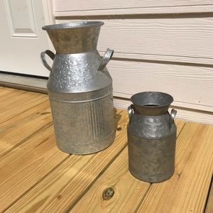 Two Tin Canisters for home deco